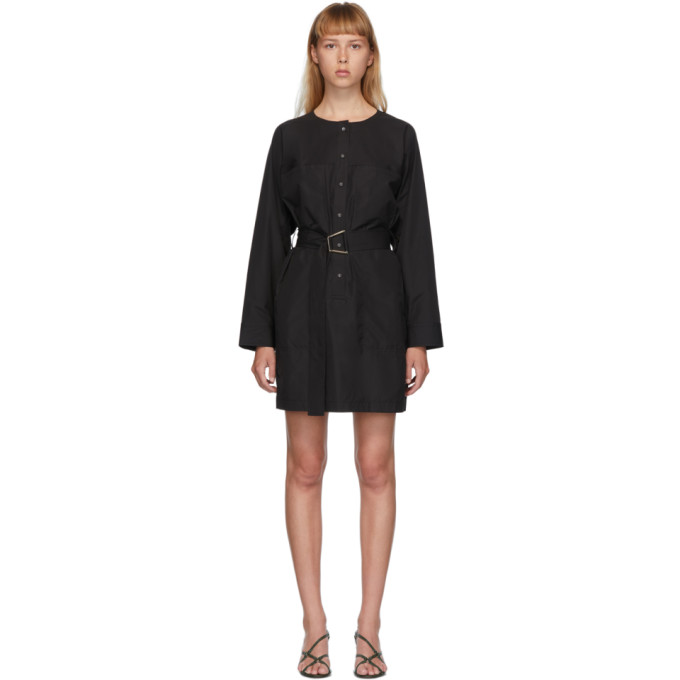 31 Phillip Lim Black Button Down Belted Dress 202283F05202201