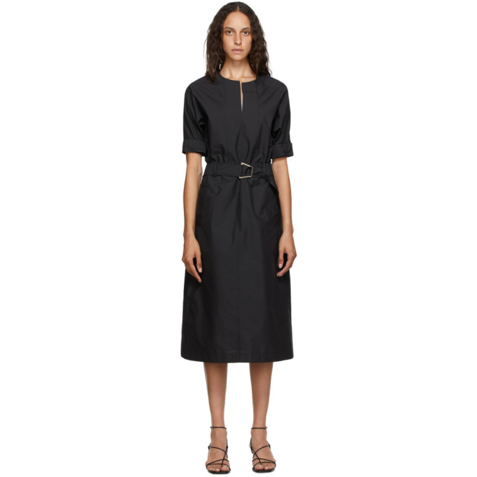 31 Phillip Lim Black Poplin Dolman Dress 202283F05400803