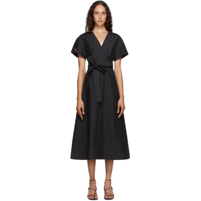 31 Phillip Lim Black Crossover Tied Dress 202283F05401402