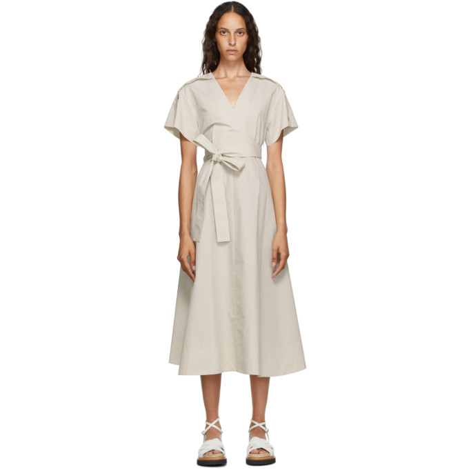 31 Phillip Lim Off White Crossover Tied Dress 202283F05401502