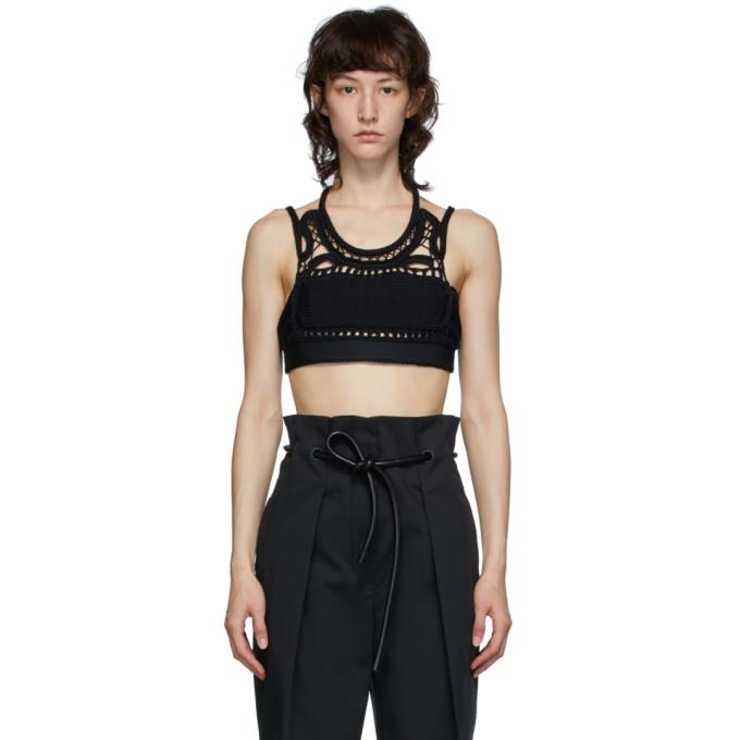 31 Phillip Lim Black Crochet Tank Top 202283F08000603