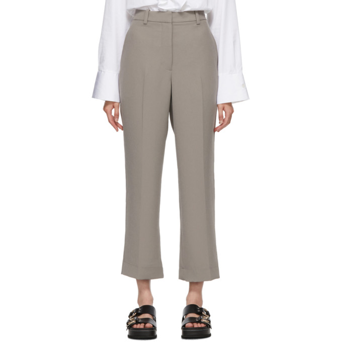 31 Phillip Lim Grey Cady Heavy Relaxed Trousers 202283F08700504
