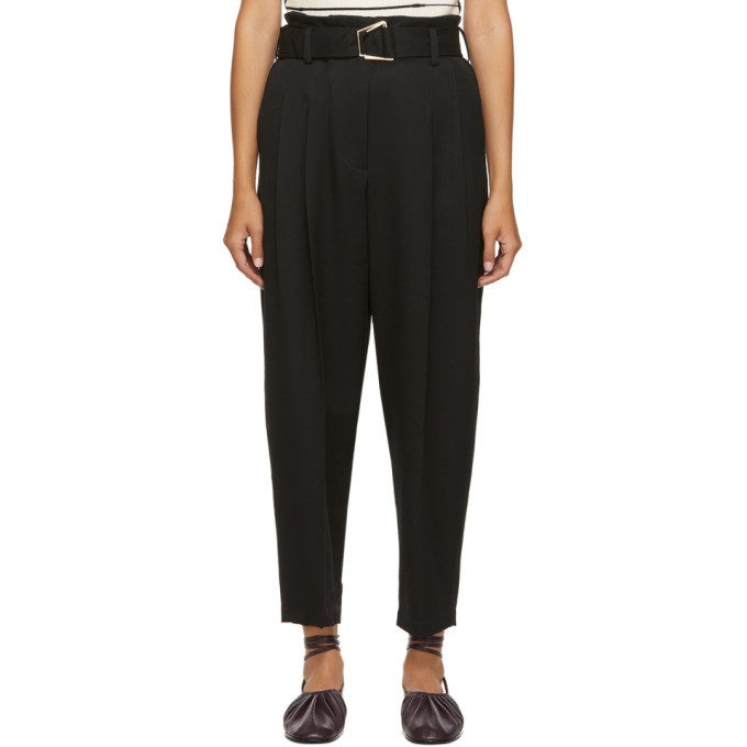 3.1 Phillip Lim 3.1 PHILLIP LIM BLACK WOOL UTILITY BELT TROUSERS