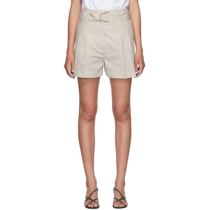 31 Phillip Lim Beige Belted Utility Shorts 202283F08800402