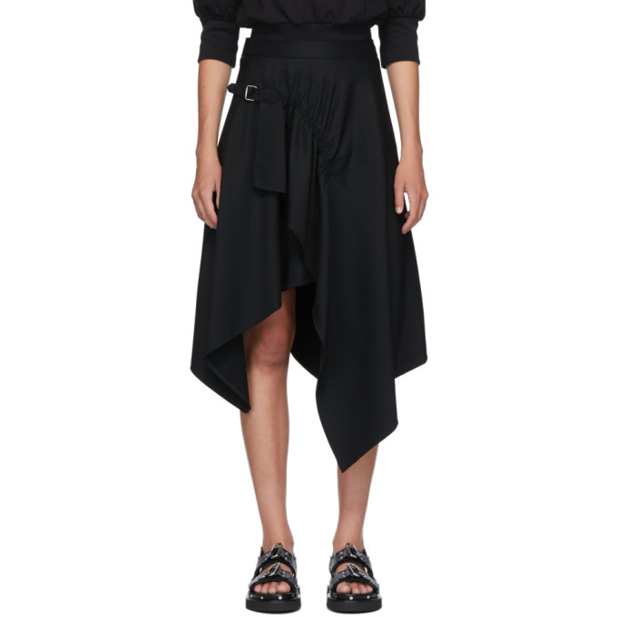 31 Phillip Lim Black Handkerchief Skirt 202283F09201302