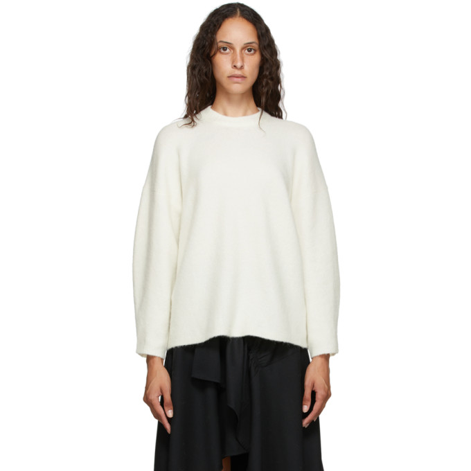 31 Phillip Lim Off White Wool Crewneck Sweater 202283F09601802