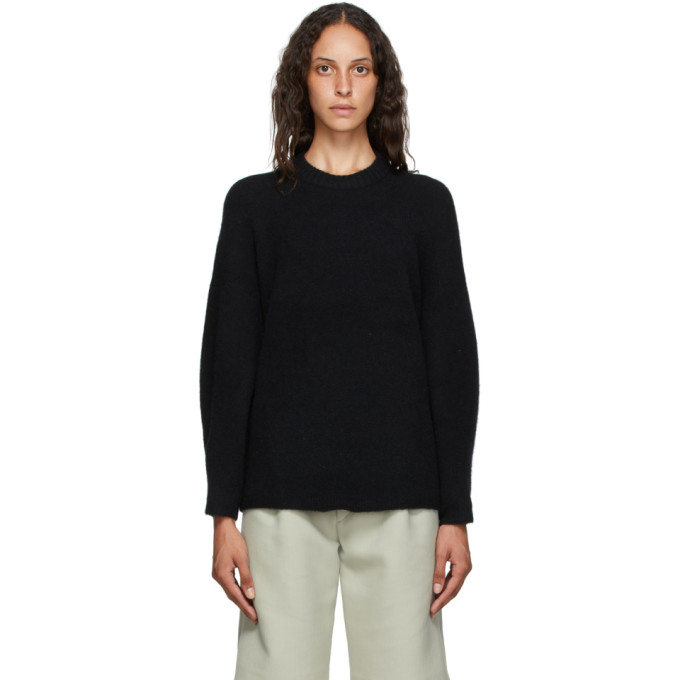 31 Phillip Lim Black Wool Crewneck Sweater 202283F09601903