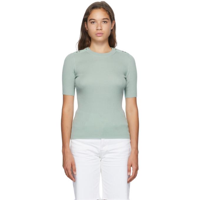 31 Phillip Lim Green Picot Stitch T Shirt 202283F11000604