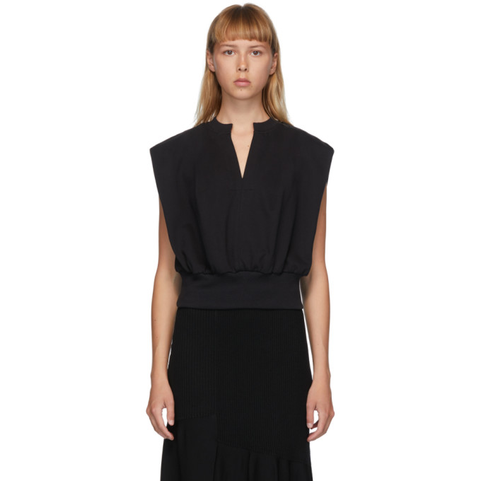 31 Phillip Lim Black French Terry Tank Top 202283F11103902