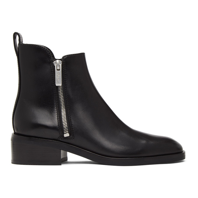 31 Phillip Lim Black Alexa Ankle Boots 202283F11310007