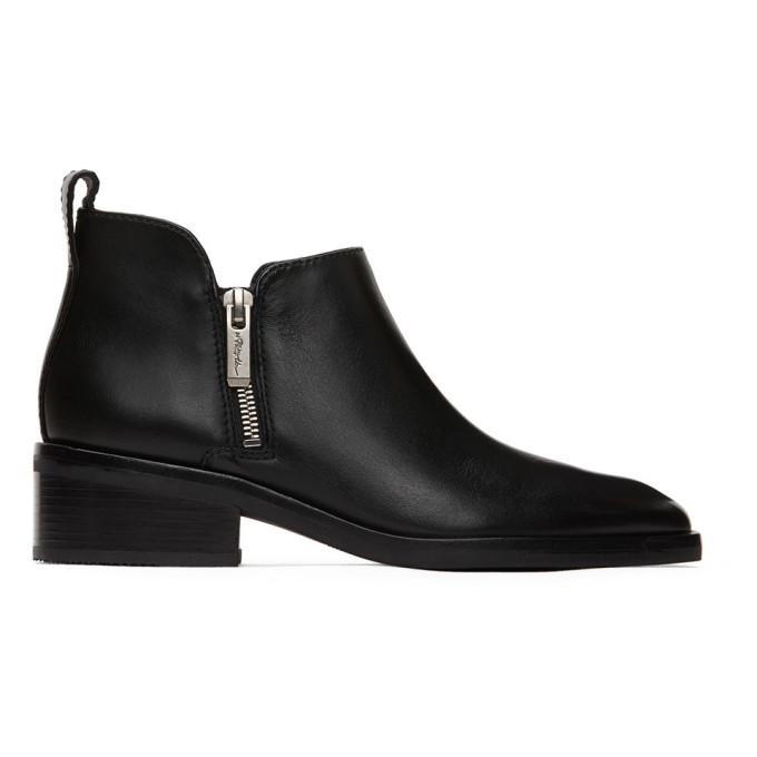 31 Phillip Lim Black Alexa Ankle Boots 202283F11310101