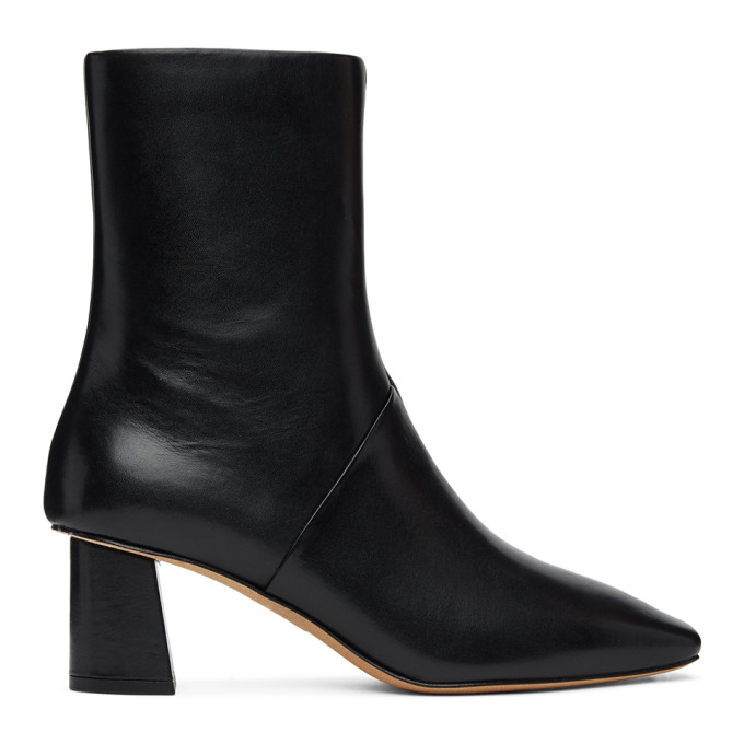31 Phillip Lim Black Leather Tess Boots 202283F11310303
