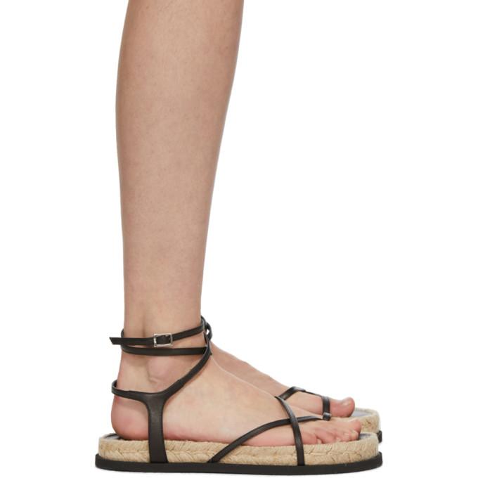 31 Phillip Lim Black Yasmine Strappy Espadrille Sandals 202283F12409309