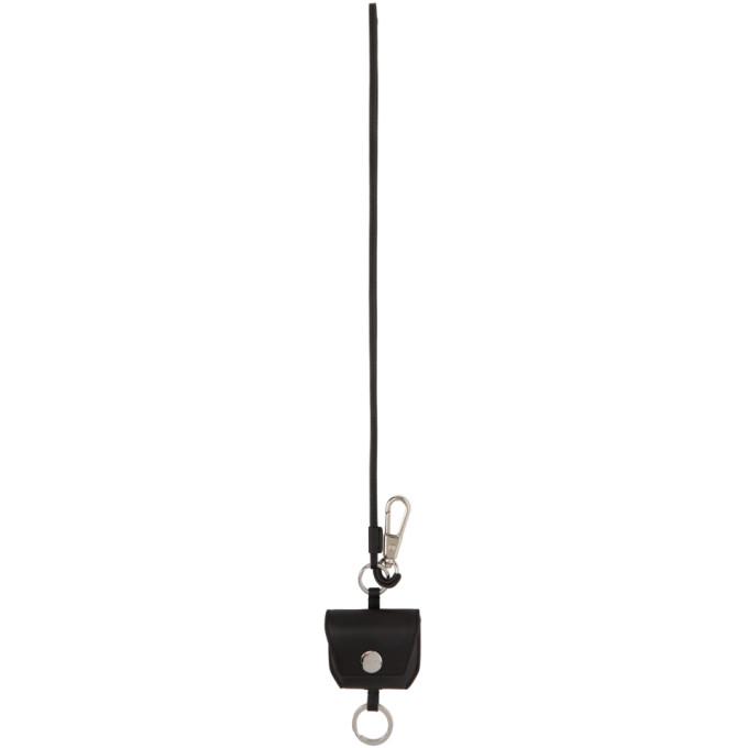 31 Phillip Lim Black Leather Airpod Keychain 202283M14804201