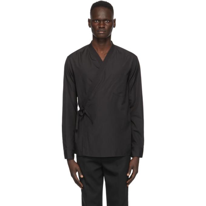 31 Phillip Lim Black Kimono Shirt 202283M19202804