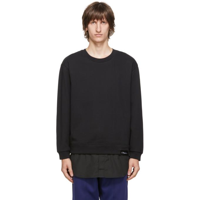 31 Phillip Lim Black Logo Patch Long Sleeve Sweatshirt 202283M20403802