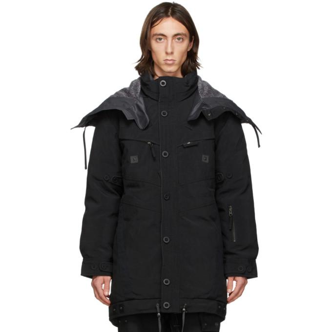Blackmerle Blackmerle Black Down Parka Jacket