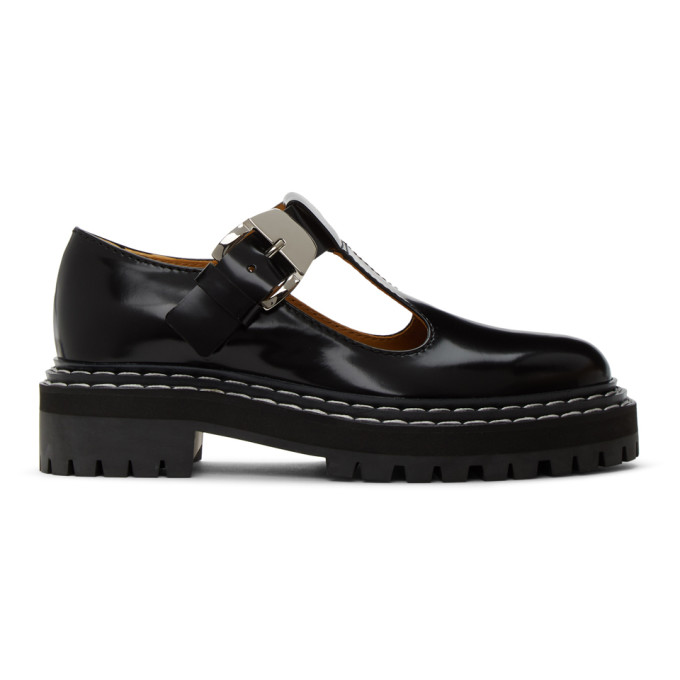 Proenza Schouler Black Lug Sole Mary Jane Oxfords  - buy with discount
