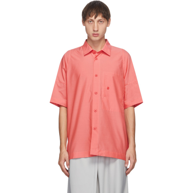 132 5 ISSEY MIYAKE Pink Men 1 Short Sleeve Shirt 202302M19200502