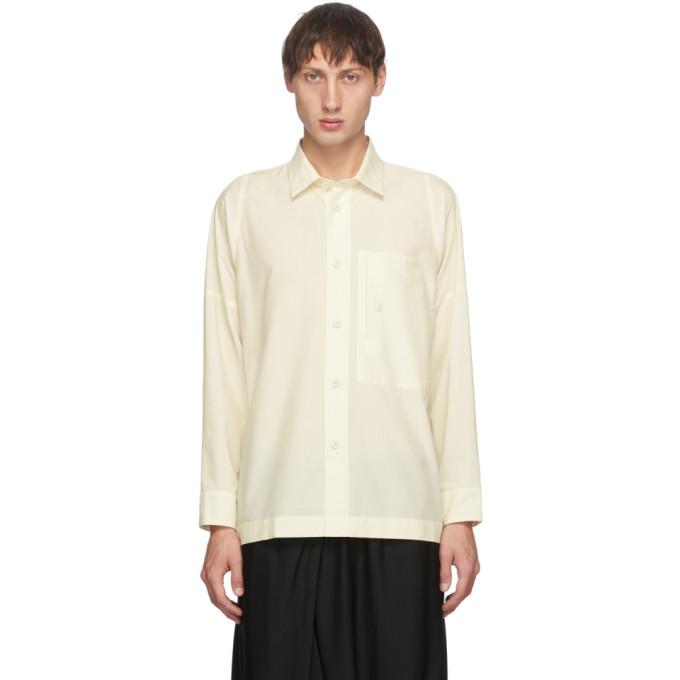 132 5 ISSEY MIYAKE Off White Men 1 Shirt 202302M19200701
