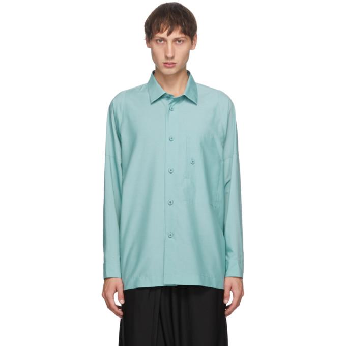 132 5 ISSEY MIYAKE Blue Men 1 Shirt 202302M19200802