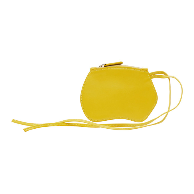 Little Liffner Yellow Mini Pebble Pouch In Citrus