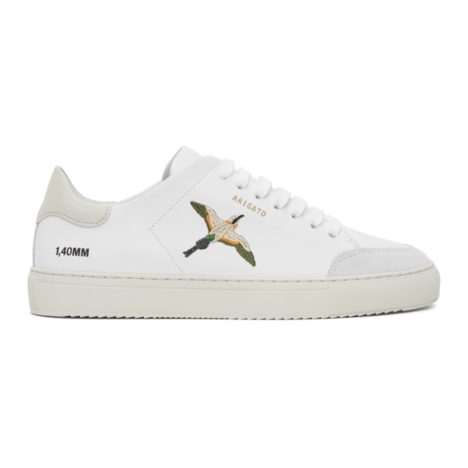 SSENSE Exclusive White and Pink Birds Clean 90 Sneakers