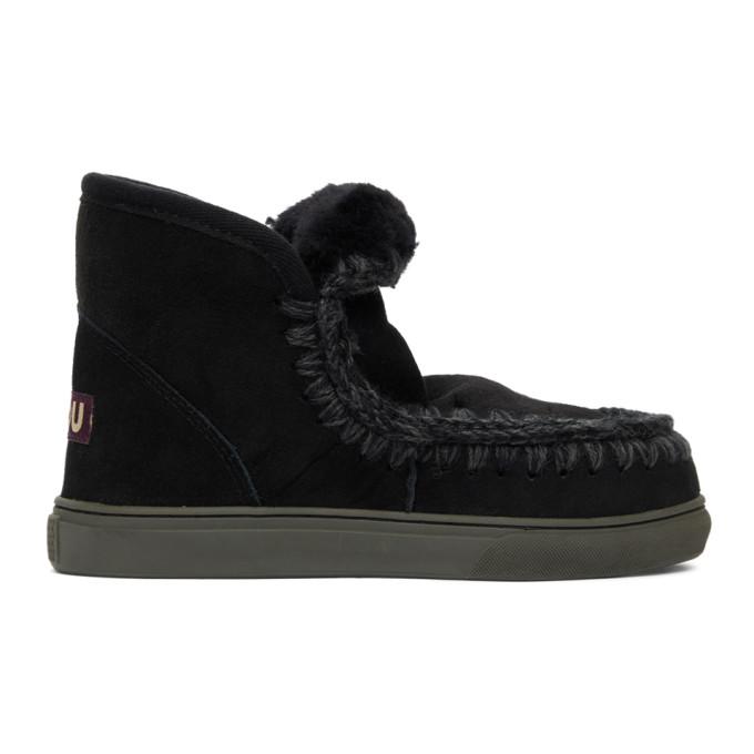 Mou Black Sneaker Boots