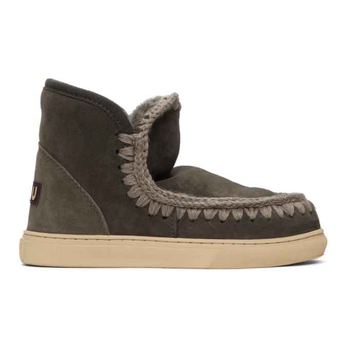 Mou 灰色 Sneaker 踝靴