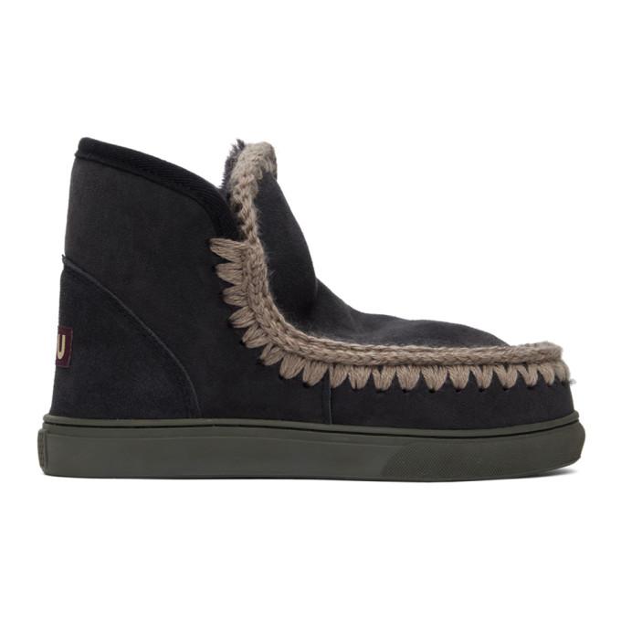 Mou SSENSE Exclusive Black Sneaker Boots