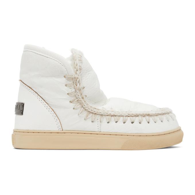 Mou White Sneaker Boots