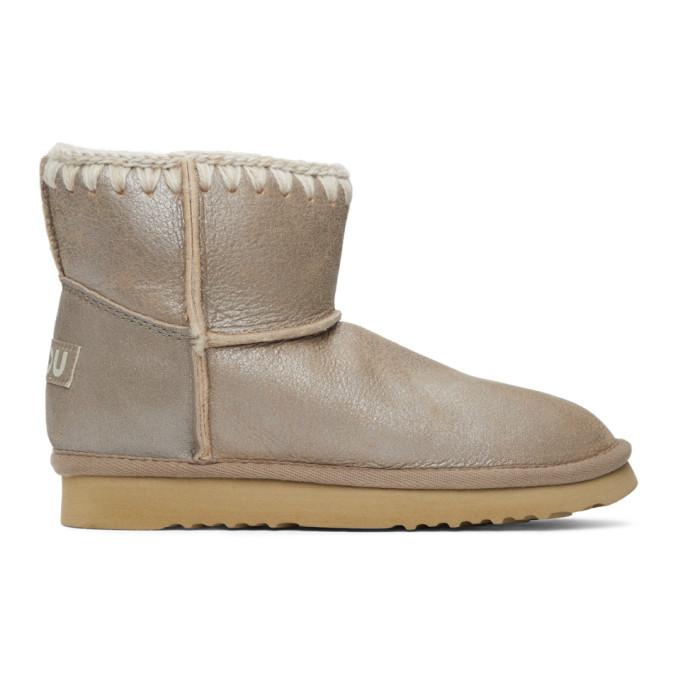 Mou Grey Metallic Classic Boots