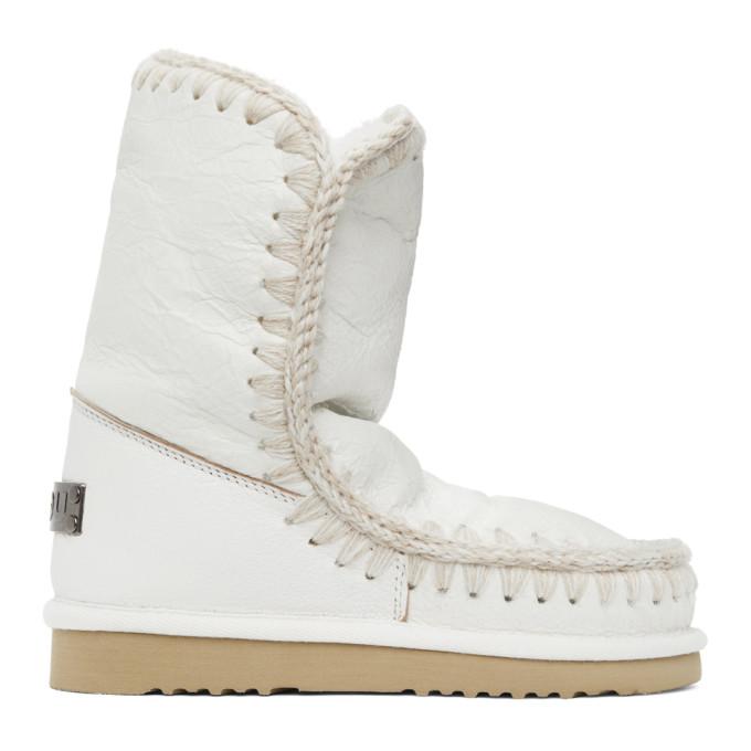 Mou White 24 Mid-Calf Boots