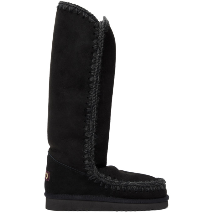 Mou Black 40 Tall Boots