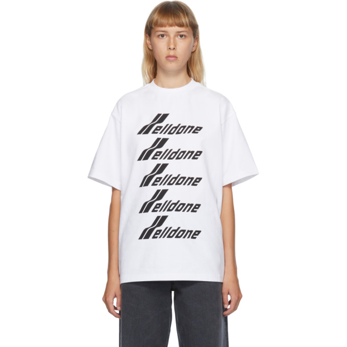 We11 Done WE11DONE WHITE FRONT LOGO T-SHIRT