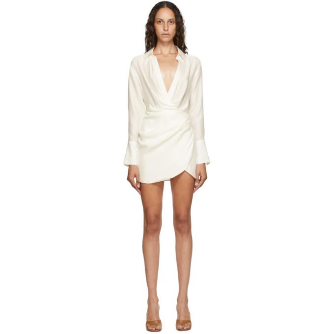 Gauge81 GAUGE81 WHITE SILK NAHA SHORT DRESS