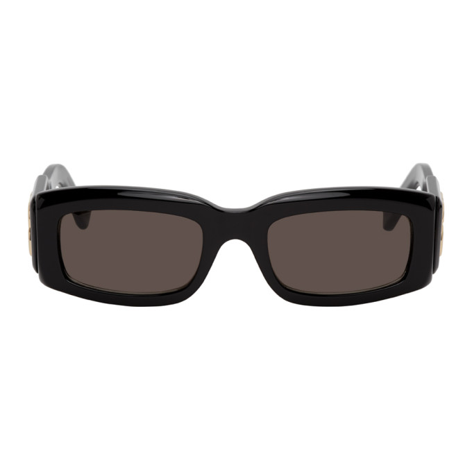 Black BB Plaque Square Sunglasses