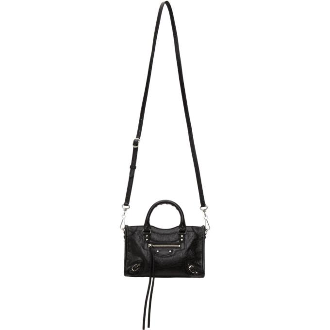 Balenciaga Classic City Aj Logo Strap Leather Tote In 1000 Black