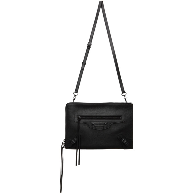 Balenciaga Black Neo Classic Pouch In 1000 Black