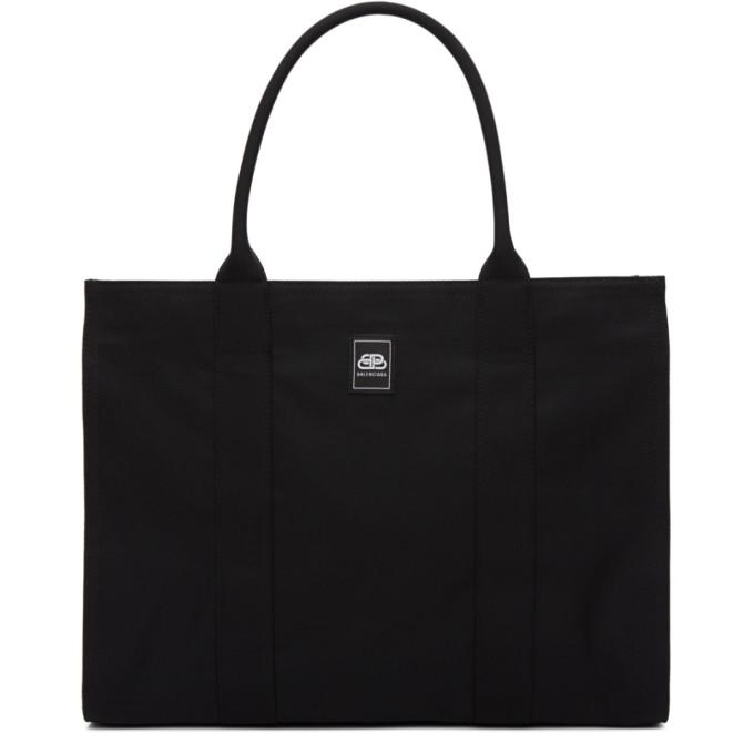Balenciaga BALENCIAGA BLACK RECYCLED NYLON TOTE BAG