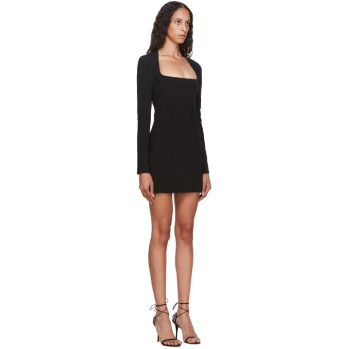 MUGLER Mini dresses MUGLER BLACK TECH SCUBA MINI DRESS