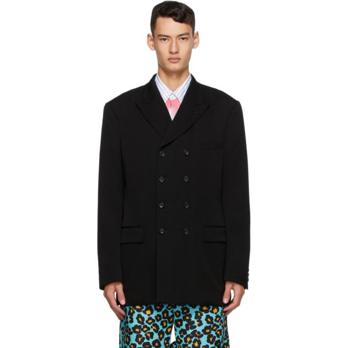 Comme des Garcons Homme Plus 黑色 Doeskin 羊毛西装外套