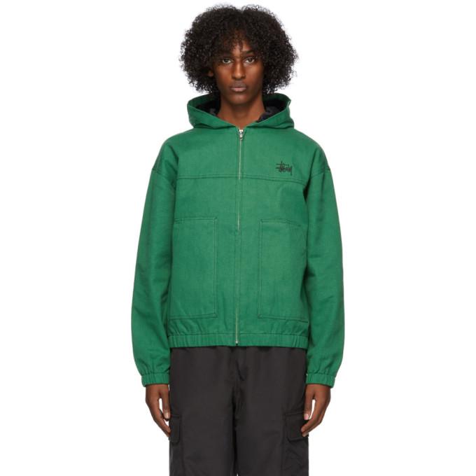 Stussy Stussy Green Canvas Work Jacket