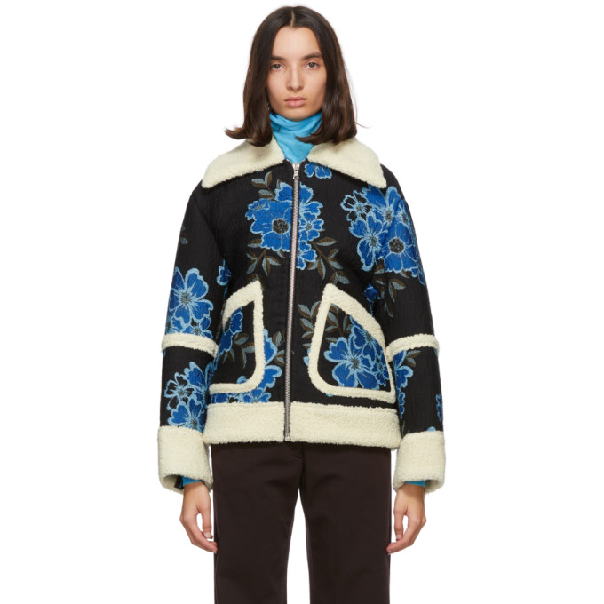 Dries Van Noten Dries Van Noten Navy Floral Embroidered Jacket