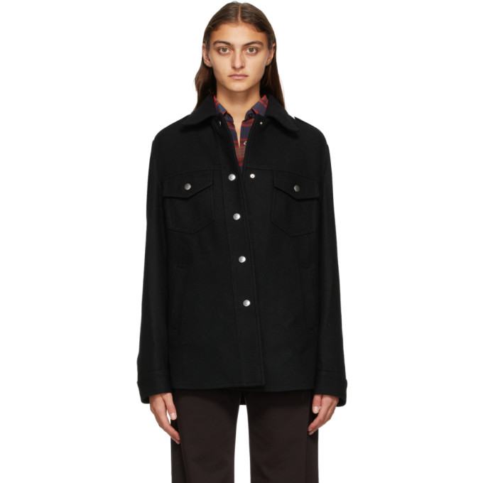Dries Van Noten Dries Van Noten Black Wool Shirt Jacket