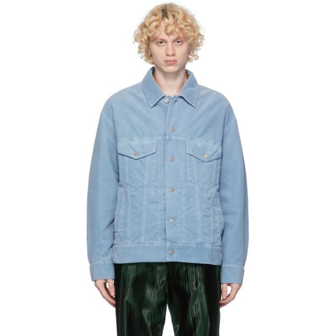 Dries Van Noten Dries Van Noten Blue Corduroy Jacket