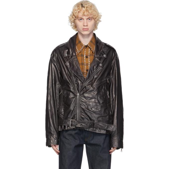 Dries Van Noten Dries Van Noten Black Coated Jacket