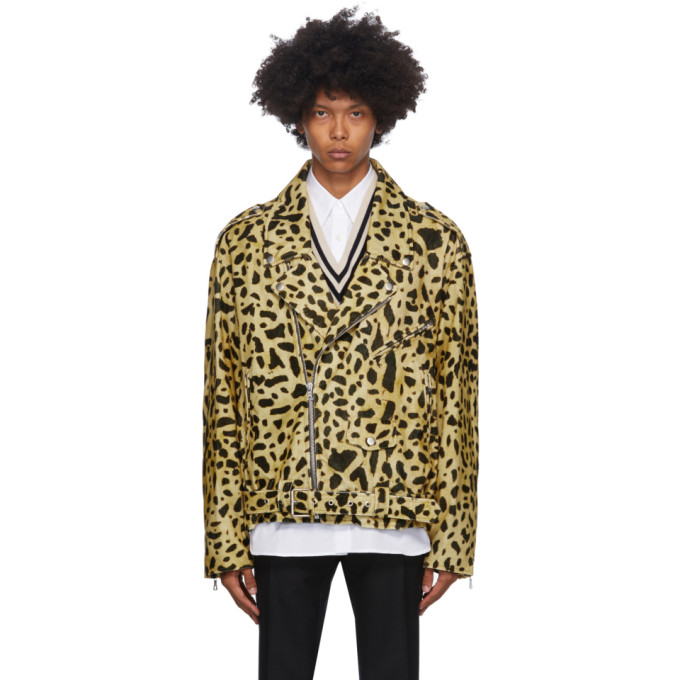 Dries Van Noten Dries Van Noten Yellow Corduroy Biker Jacket