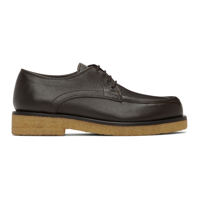 The Row THE ROW BROWN LEATHER OXFORDS