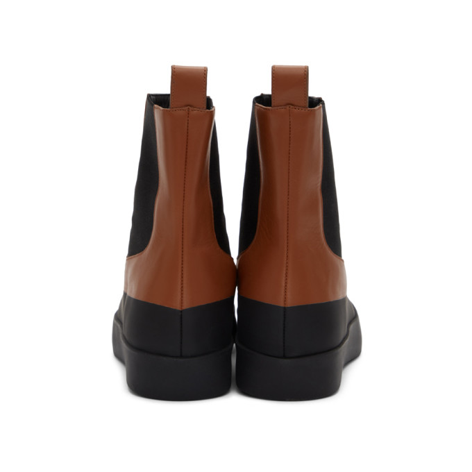 NEOUS Leathers NEOUS BROWN AND BLACK ZANIAH BOOTS